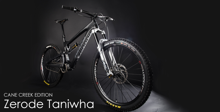 Zerode Taniwha Enduro bike. Cane Creek Edition. Distributed by Cycle Monkey.