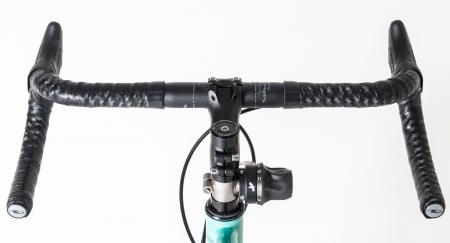 Rodriguez Doohicky Rohloff Twist Shifter Adapter. Installed on bike headset.